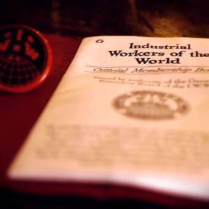 IWW pin and card